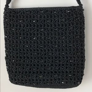 Carrie Forbes Black Beaded Purse